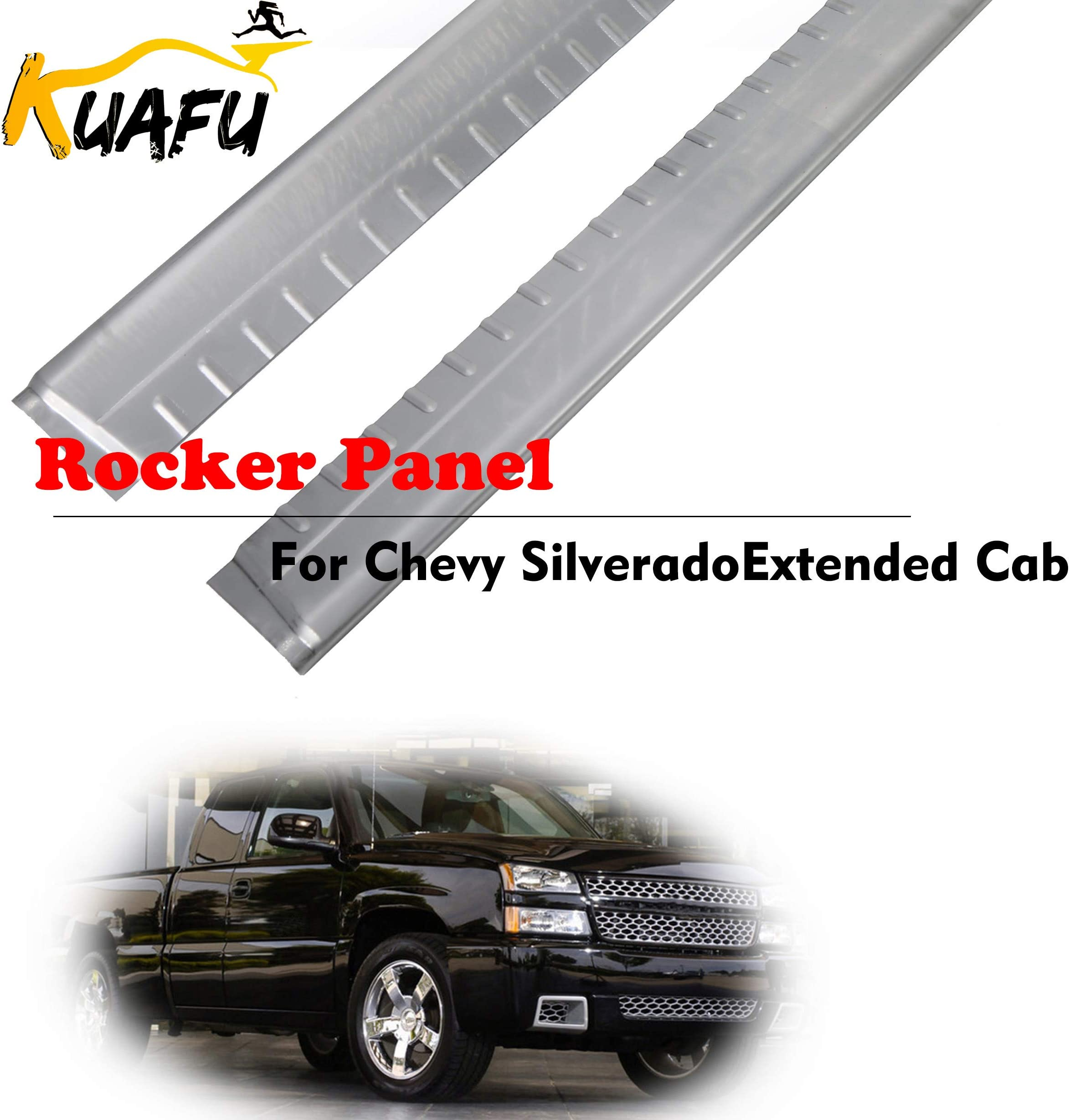 Extended Cab Metal Rocker Panels 4 Door Lower Slip-On Replacement For 0856001 0856002 Fits 1999-2007 Chevy Silverado/GMC Sierra