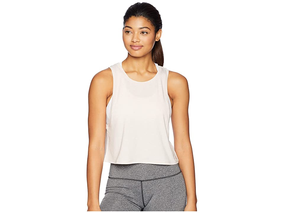 New Balance Transform Two-Way Crop Tank Top (Conch Shell Heather) Women