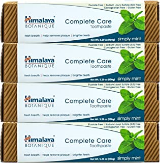 Himalaya Complete Care toothpaste - Simply Mint 5.29 oz/150 gm (4 Pack) Natural, Fluoride-Free & SLS Free