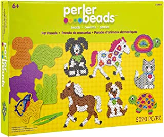Perler Pet Parade Deluxe Fuse Bead Craft Activity Kit, 5019 pcs