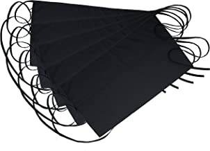 """NEZZON Black Waitress Apron-5 Pack with 3 Pockets: 7.9x6.5""""–Commercial Grade 35% Cotton & 65% Polyester–Professionally Hemmed Edges to Last–Smart Look,Low Crease–Machine Wash,Iron,Quick Dry"""