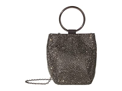Jessica McClintock Gwen Clutch (Gunmetal) Clutch Handbags