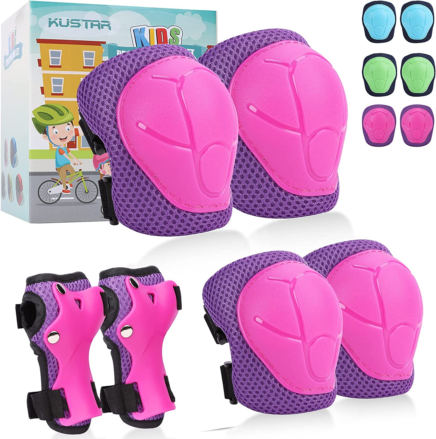Knee Pads Elbow Kids Recommendation Ages 3-7 6 in w Phoenix Mall Set Gear 1 Protective