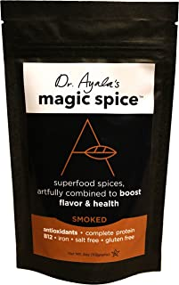 Dr. Ayala's Magic Spice (Smoked) Superfood Seasoning, Flavor Booster, Turmeric, Nutritional Yeast, All Purpose Seasoning, ...