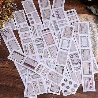 Autocollants de scrapbooking, autocollants en papier de décoration Lychii 16 pièces, autocollants adhésifs Design Vintage ...