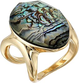 Robert Lee Morris Abalone and Gold Stone Ring