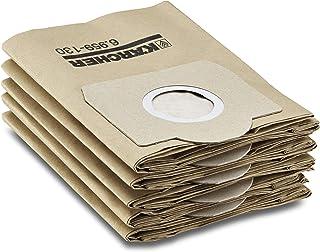 Kärcher pappersfilterpåsar, 5 stycken (2 lager, hög slitstyrka, kompatibla med Kärcher SE 4001/4002 och WD 3, artikelnumme...