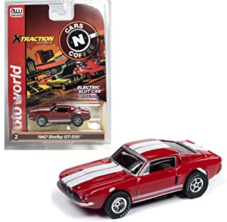 Auto World Xtraction 1967 Shelby GT 350 (Red) HO Scale Slot Car