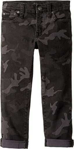 Polo Ralph Lauren Kids - Eldridge Skinny Stretch Jeans in Charcoal (Little Kids)