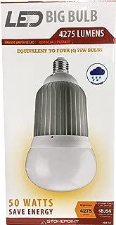 StonePoint LED Lighting Shatter Resistant Big Bulb BB-50 Bright Daylight Bulb Fits Standard Light Socket 4000K and 4275 Lumens - For Shop Light, Garage Light, Workshop