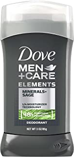 Dove Men+Care Elements Deodorant Stick, Minerals + Sage, 3 Ounce