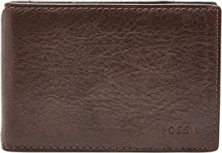 Fossil Men's Ingram Leather RFID Blocking Money Clip Bifold Wallet