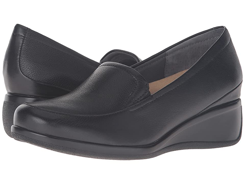 Trotters Marche (Black Tumbled Leather) Women