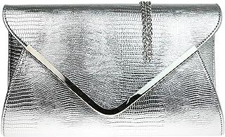 Girly Handbags Cocodrilo de gran tamaño del bolso de embrague