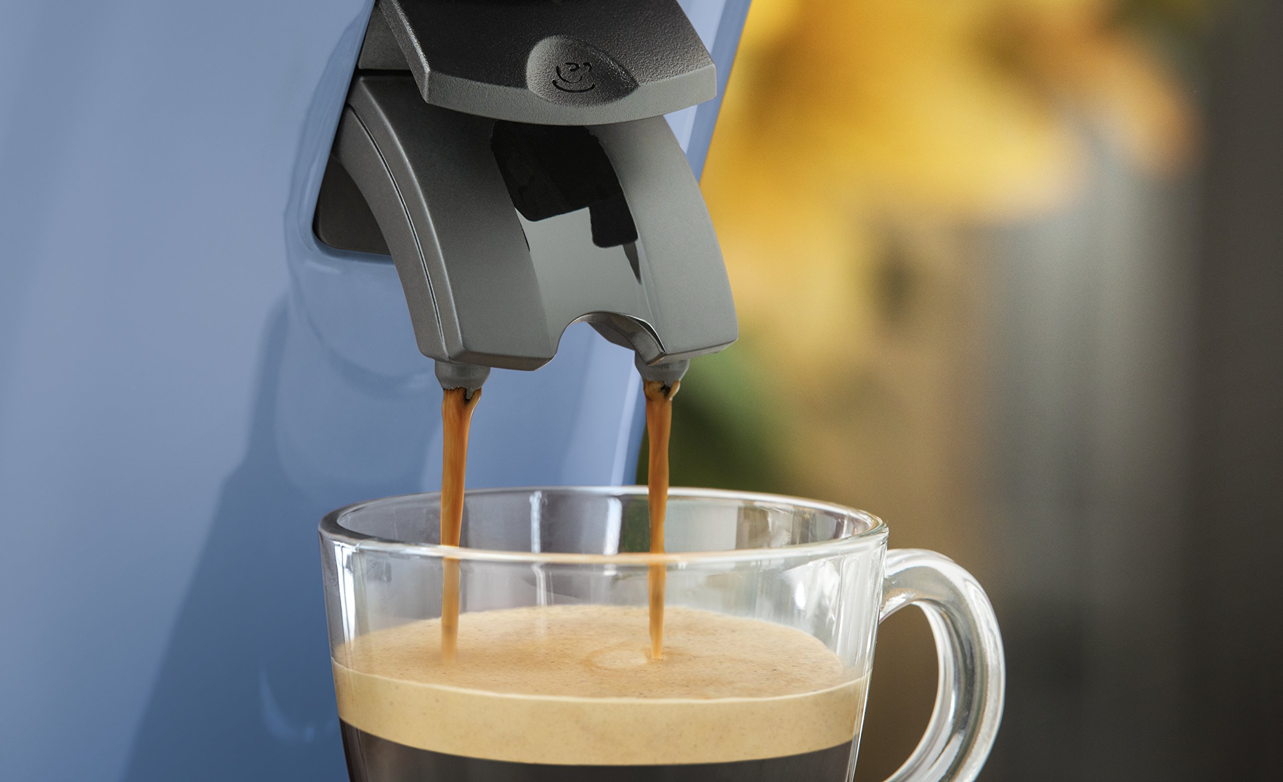 Philips Cafetera Senseo New Original, Elección de crema Plus, grosor de café, color negro azul claro: Amazon.es: Hogar