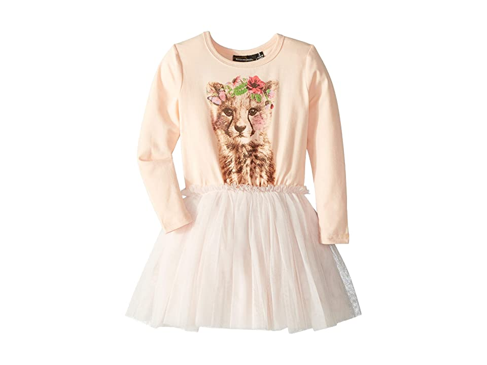 Rock Your Baby Floral Cheetah Circus Dress (Toddler/Little Kids/Big Kids) (Pale Pink) Girl