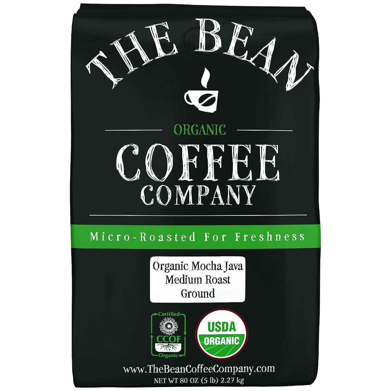 NEW before selling The Bean Coffee Company Organic Roast Ground Java Medium Ranking TOP4 Mocha