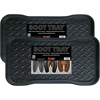 JobSite Heavy Duty Boot Tray, Multi-Purpose for Shoes, Pets, Garden - 15 x 28 Inch - 2 Trays