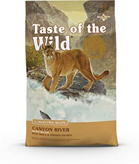 Taste of The Wild Grain Free Premium High Protein Dry Cat Food Canyon River Feline Recipe with Trout & Smoked Salmon 2.27kg