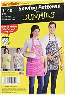 Simplicity 1140 Unisex Apron Sewing Patterns for Dummies, One Size Only