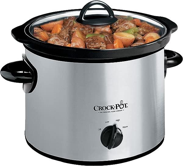 Crock Pot SCR300 SS 3 Quart Manual Slow Cooker Silver