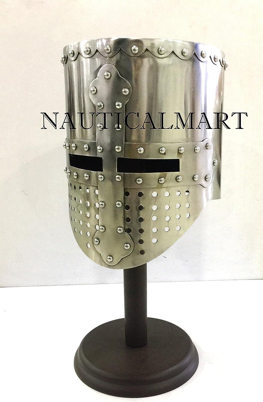 Nautisches Mart Mittelalter Templar Knight Crusader Armour Helm Helm Helm tragbar Halloween-Kostüm B07CM5CRXH  Karamell, sanft 84df17