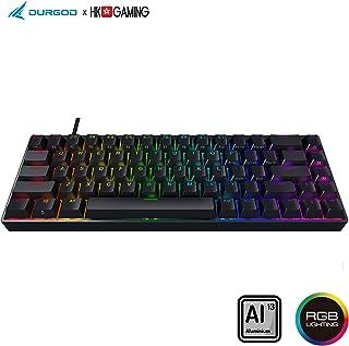 Durgod Hades 68 RGB Mechanical Gaming Keyboard - 65% Layout - Cherry Profile - NKRO - USB Type C - Aluminium Chassis (Gateron Brown, Black PBT)