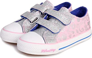 Weestep Toddler/Little Kid Glitter Double Strap Pink Sneaker