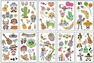 CQHUI 10 stks/partij Kids Tattoo Sticker Dieren Cartoon Horse Tattoo Voor Kinderen Kinderen Tattoo Bear Lion Rainbow Unico...