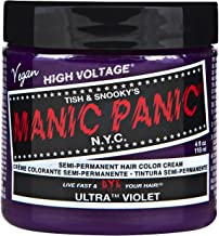 Manic Panic Semi-Permanent Haircolor Ultra Violet 4 Ounce Jar (118ml) (2 Pack)