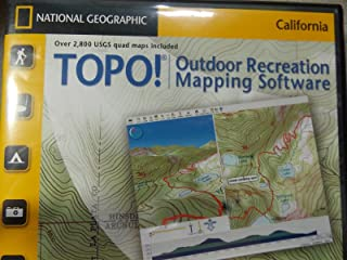 TOPO! California Outdoor Recreation Mapping Software by National Geographic