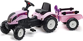 Kiddi-o by Kettler Ranch Trac Ride-Ons with Trailer, Pink