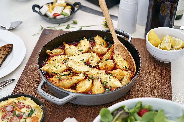 Staub Double Handle Fry Pan 13 Black Matte Black Matte