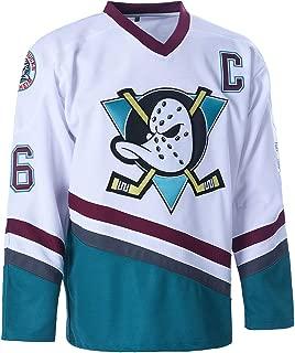 SPPOTY Charlie Conway #96 Mighty Ducks Movie Ice Hockey Jersey Green/White