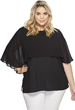 Calvin Klein Plus - Plus Size Short Sleeve Ruffle Top
