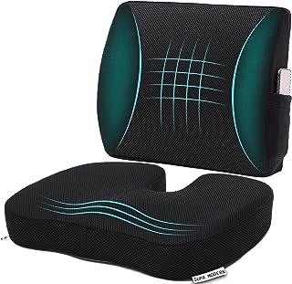 Cojín de espuma viscoelástica para asiento de coche y almohada de apoyo lumbar 3D, cojín ortopédico para silla de oficina, silla de oficina, almohada lumbar para revivir el dolor de espalda baja