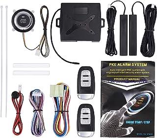 $52 » Justech 12V Universal 9PCs Car Alarm Start Security System Smart Keyless Entry Ignition Push Button Remote Starter
