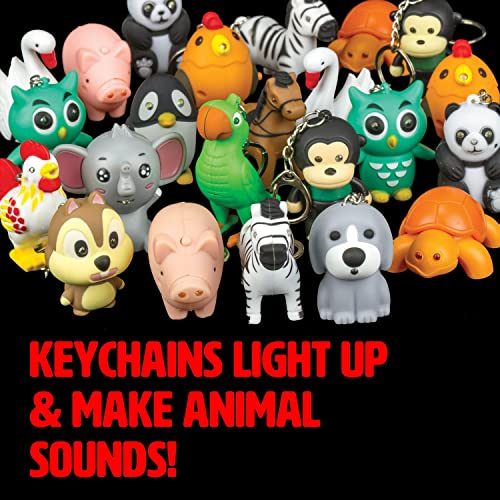 Zoo and Farm Animals Light and Sound LED Keychain (12 Pack) 17231d853da1