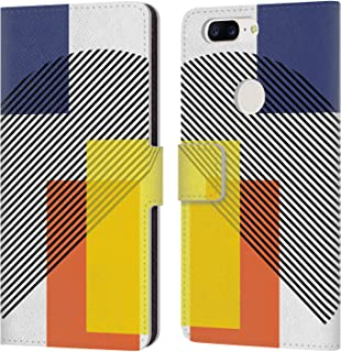 Official The Native State Abstract Graphics Leather Book Wallet Case Cover Compatible for OnePlus 5T