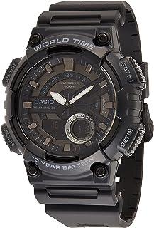 Casio Men's Black Dial Resin Analog-Digital Watch - AEQ-110W-1BVDF