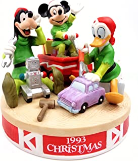 Disney Christmas - ''Santa's Workshop'' Mickey, Donald & Goofy Porcelain Collectible Figurine 1993 Limited Edition