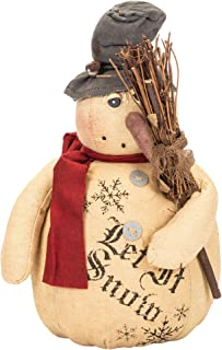 Rustic Country Vintage Christmas Frosty Snowman -