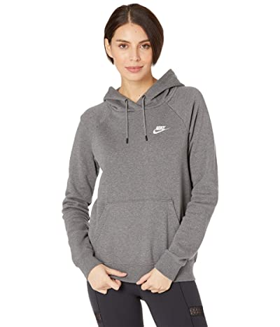 Nike NSW Essential Hoodie Pullover Fleece (Charcoal Heather/White) Women