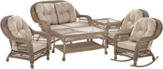 W Unlimited Saturn Collection 6 PCs Furniture Set, Light Brown