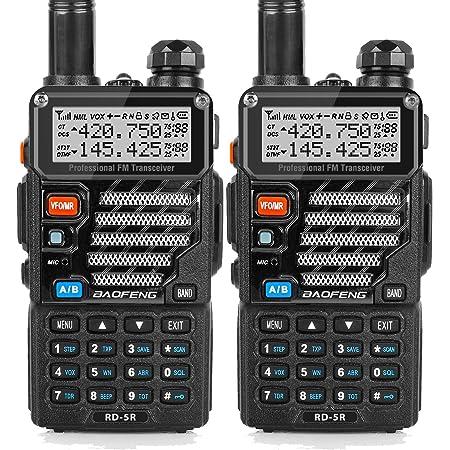 トランシーバー 無線機 U/Vデュアルバンド 超長距離タイプ VOX機能付き 簡単操作 5RE 災害·地震 緊急対応 2台セット【日本語の説明書】 …
