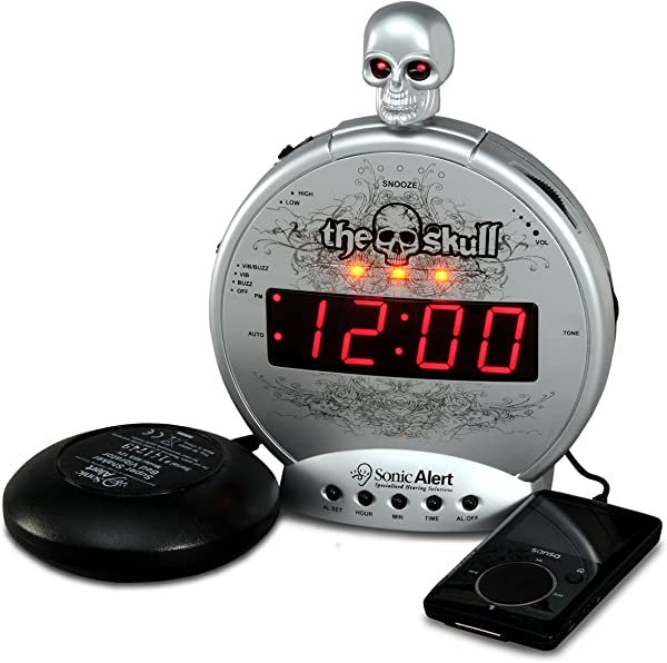 Sonic Alert Loud Alarm Clock SBS550ss Silver And Black