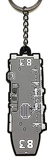 「自衛隊大作戦」ラバーキーホルダーNo.7 海上自衛隊 護衛艦いずも