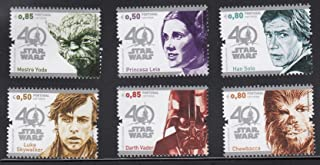 Portugal Star Wars 40th Anniversary Collectible Postage Stamps Set