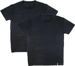 Active Men's 2-Pack Short Sleeve Ultra Soft Crew Neck Undershirts