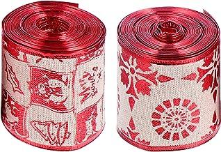 2 rolos de fita decorativa de natal chique faça você mesmo fita para caixa de presente fita de embrulho